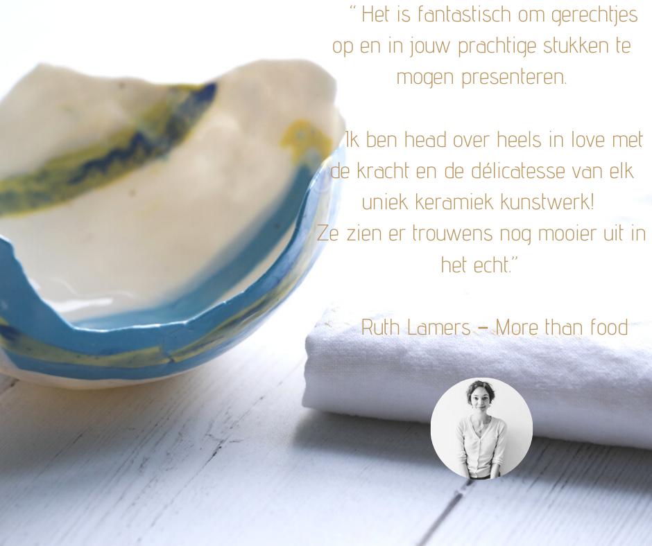 Ruth van More than food over - Meike Janssens ceramic art
