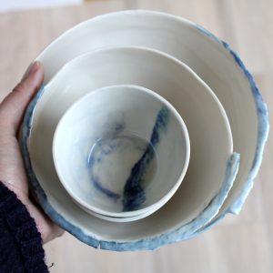 Setje tapas bowls in porselein